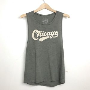 Vintage Orchard Street Chicago Burnout Muscle Tee